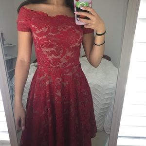 Gorgeous Red lace formal dress XS/S